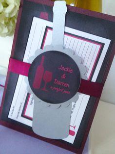 wine bridal shower invitations | ... bridal shower, chalkboard wedding, wine theme wedding invitations