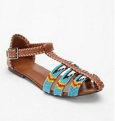 Ecote Beaded Covered Toe Sandal $39