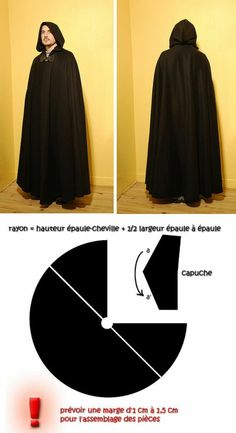hood - Kleidungsstück -Cloak hood - Kleidungsstück - Crafts to make and sell, Crafts to Sell, Easy Crafts to Make 15 Awesome DIY Crafts That Sell Every Time! Clothing Patterns, Dress Patterns, Sewing Patterns, Cape Sewing Pattern, Sewing Art, Free Pattern, Cosplay Tutorial, Cosplay Diy, Sewing Clothes