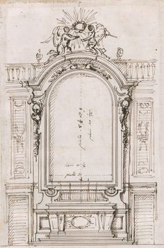 Progetto per altare, 1720 -1730