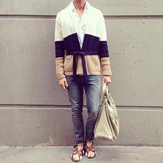 Knit time #cardigan #ports #shirt #bruunsbazaar #jeans #cos #sandals #prada #bag #ballenciaga #menswear #mensklook #mensfashion #mensoutfit #mensstyle #streetstyle #streetfashion #outfitoftheday #outfit #ootd #kimgrenaalook