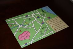 Include a hand drawn map in the welcome bags!