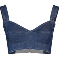 Designer Clothes, Shoes & Bags for Women Denim Crop Top, Blue Crop Tops, Stage Outfits, Kpop Outfits, Denim Fashion, Fashion Outfits, Hipster Looks, Fashion Brand, Fashion Design