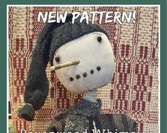 Handmade Whimzical creations by Artist Wendy Montreuil by RavenwoodWhimzies Primitive Sheep, Primitive Patterns, Primitive Folk Art, How To Age Paper, Sheep Wool, Snowman, Sewing Patterns, Etsy Seller, Primitives