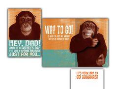 "Hallmark Humor Card • Paper Mechanic • Monkey give ""thumbs up."""