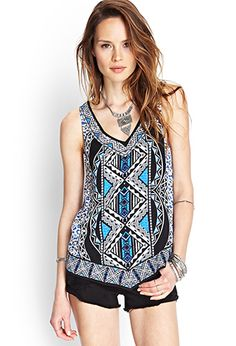 Tribal Print Woven Top | Forever21 - 2000123725