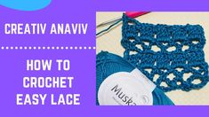 How to Crochet Easy Lace - Crochet Lace Tutorial Easy Crochet, Crochet Lace, Crochet Hooks, Of Brand, Crochet Necklace, Crochet Patterns, Community, Messages, Board