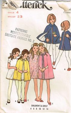6065 Butterick Children's and Girls' semi-fitted A-line by Demi