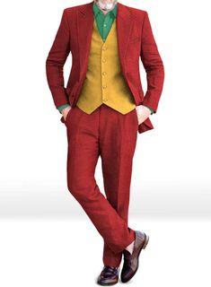 Joker 2019 Joaquin Phoenix Movie Suit : StudioSuits: Made To Measure Custom Suits, Customize Suits, Jackets and Trousers Tweed Waistcoat, Tweed Suits, Yellow Suit, Red Suit, Joker Suit, Joker Costume, Joker Face, Joaquin Phoenix, Tweed Fabric