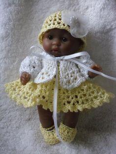 Crochet pattern for Berenguer 5 inch baby doll von petitedolls