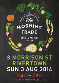 The Morning Trade Artisan Market begins trading on Sunday, 3 August 2014!  We are very excited!   #themorningtradedurban #durban #organicfood #artisanfood #rivertowndbn