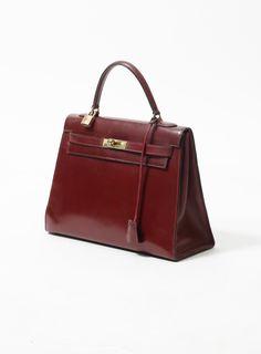 896d057525c2 Hermès  60s Burgundy Box Kelly