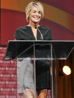 "Star Tracks: Tuesday, April 14, 2015 | WITH HONORS | Sharon Stone pays tribute to the life of NAB Spirit of Broadcasting Award winner Lowell ""Bud"" Paxson, creator and co-founder of the Home Shopping Network, in Las Vegas on Monday."