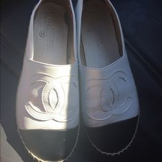 Authentic Chanel Espadrilles size 6 Beautiful 100% Authentic Chanel shoes. Excellent condition. These must go today! Shoes are a size 6. Runs true to size. These are a must have for your spring/summer collection. Shoes do not come with box but I will mail with caution. Please message me an offer. Also selling on eBay and ♏️. Better deal through pay pal or ♏️. Make an offer today, much better deal through pay pal or ♏️. $575 on ♏️. Willing to negotiate more on ♏️. Happy shopping  CHANEL Shoes…