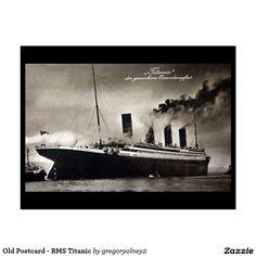 Old Postcard - RMS Titanic   Zazzle.co.uk