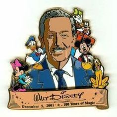 The perfect piece to complete any collection of Disney trading pins! This piece is in it's original case -a must have for any collector! Disney's CAST EXCLUSIVE 100 Years of Magic Trading Pin Walt Disney