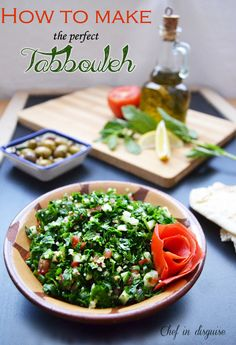 """Tip: Soaking the bulgur in the dressing makes the salad even tastier.   """"How to make the perfect tabbouleh by Chef in disguise"""""""