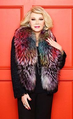Joan Rivers proved to the world that women are funny too! She gave a voice to female comedians and women of all different ages found strength in her. She was a pioneer bringing humor to fashion and Hollywood. After her husband passed, she continued her stand-up career. She never stopped! Miss you already Joan xo #joanrivers