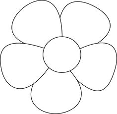 Traceable flower templates this is your indexhtml page on simple flowers clipart black and white mightylinksfo Gallery