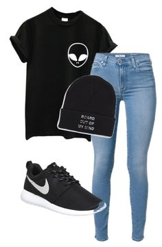 """""""Mhm"""" by cheyenne-dodds on Polyvore featuring NIKE and Vans"""