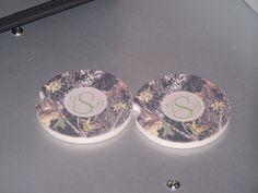 custom printed car coasters, absorbent car coasters. Design your own at www.customprinteddominoes.com
