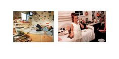 "5 (left) - Titled - Erin, California, 1997. By Beth Yarnelle Edwards. Published in Suburban Dreams, 2011 6 (right) - Titled ""Ashleigh in Her Bedroom, Santa Monica, 1993"" . By Lauren Greenfield. Published in Fast Forward, 1997"