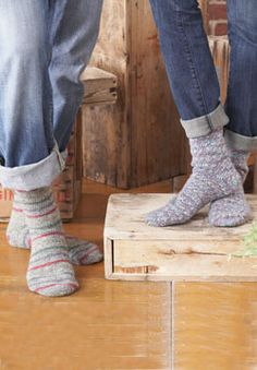Socks for the whole family - ages 2 to 102. Crocheted using Patons Kroy Socks.