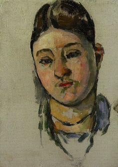 Paul Cézanne Portrait of Mme Cézanne, 1880