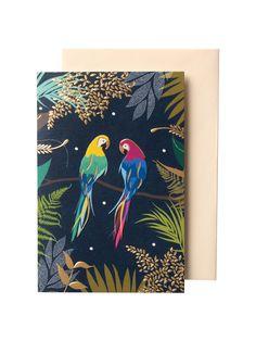 New Sara Miller Tropical Parrots Blue Green Travel Mug Reusable Coffee Cup /& Lid
