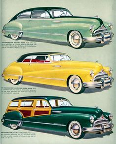 1948 Buick Roadmaster Sedanet, Convertible Sedan and Estate Wagon