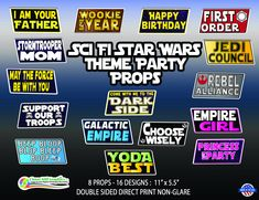 Sci-Fi Star Wars Theme Party Props Birthday by CloverMillGraphicsCA on Etsy Party Props, Party Themes, Face On A Stick, Stick Photo, Psychology Student, Wedding Fans, Bachelorette Weekend, First Holy Communion, Photo Booth Props