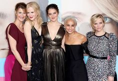 What a line-up! The all-star cast of Big Little Lies - Laura Dern Nicole Kidman Shailene Woodley Zoë Kravitz and Reese Witherspoon - at the Hollywood premiere of the mini-series  Getty Images  via INSTYLE AUSTRALIA MAGAZINE OFFICIAL INSTAGRAM - Fashion Campaigns  Haute Couture  Advertising  Editorial Photography  Magazine Cover Designs  Supermodels  Runway Models