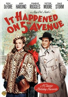 Sooo adorable. Life lessons here in time for Christmas. This one started as a Capra but he left to do 'Wonderful Life...(1947) 'It Happened On 5th Avenue' DVD | Films and Movies on DVD & Video | TCM Store