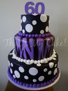 Pretty and fun birthday cake. I want to meet the 60 year old who wanted this cake!