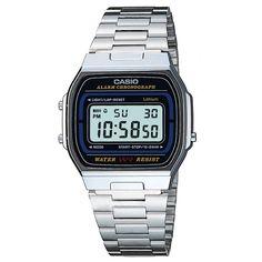 Mens Casio chrome plated retro digital watch A164WA-1VES Mens Designer  Watches, Watches Online 7ffbaf9eef