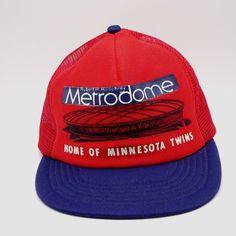 df32f902715df Hubert H Humphrey Metrodome Trucker hat Minnesota Twins Made in US Snapback  cap  Unbranded