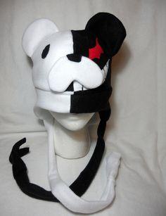 Dangan Ronpa Inspired Monobear Fleece Hat -MADE TO ORDER-