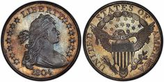Dexter/Pogue 1804 dollar was purchased by Kevin Lipton and John Albanese at the Stack's Bowers auction in Baltimore Peace Dollar, Dollar Coin, Half Dollar, Sacagawea Dollar, Valuable Coins, Silver Bullion, Us Coins, Silver Dollar, Monet