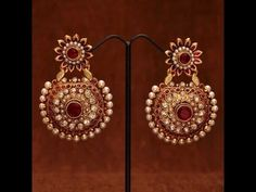 Latest Designs of Pearl Jhumka Earrings and polki danglers