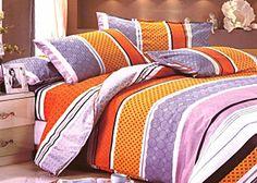 7 részes ágynemű garnitúra, vidám színekkel, 100% pamutból