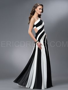 Ericdress Trumpet One-Shoulder Ruched Hollow Out Evening Dress 3