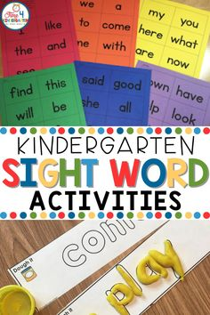 Need some fun kindergarten sight word activities to help your students master sight words? In this post, I share some of my favorite ways to practice sight words with students including sight word games, sight word flash cards, and more! Sight Word Flashcards, Sight Word Games, Sight Words, Teaching Kindergarten, Kindergarten Worksheets, Teaching Reading, Learning, Sight Word Activities, First Grade