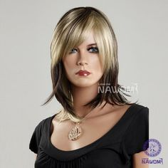 Sexy Women Wigs Lace Wigs Oblique Bangs Medium for Women Hair Wigs Wigs Store