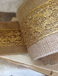 Image result for burlap and gold