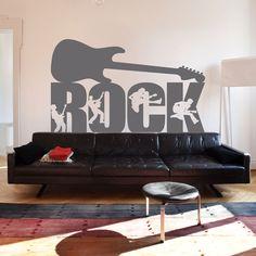 Vinilo decorativo, fanáticos del rock.