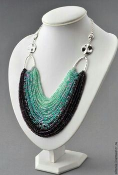 Necklace Pinned by @Manaro Design Jewelry | Beading | Bracelet | Necklace | Earrings