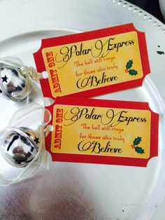 Polar Express Tags by PixiesWay on Etsy https://www.etsy.com/listing/212093219/polar-express-tags