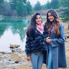 Sajal Aly with Jhanvi Kapoor (daughter of Sridevi and Boney Kapoor) in USA.   #Pakistan #India #Bollywood