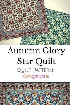This free quilt pattern has me wishing it was autumn already.