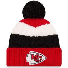 Kansas City Chiefs New Era Women s Layered Up Cuffed Pom Knit Hat – Red 9966a3abf